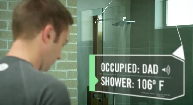 IoT explained Dad in the shower
