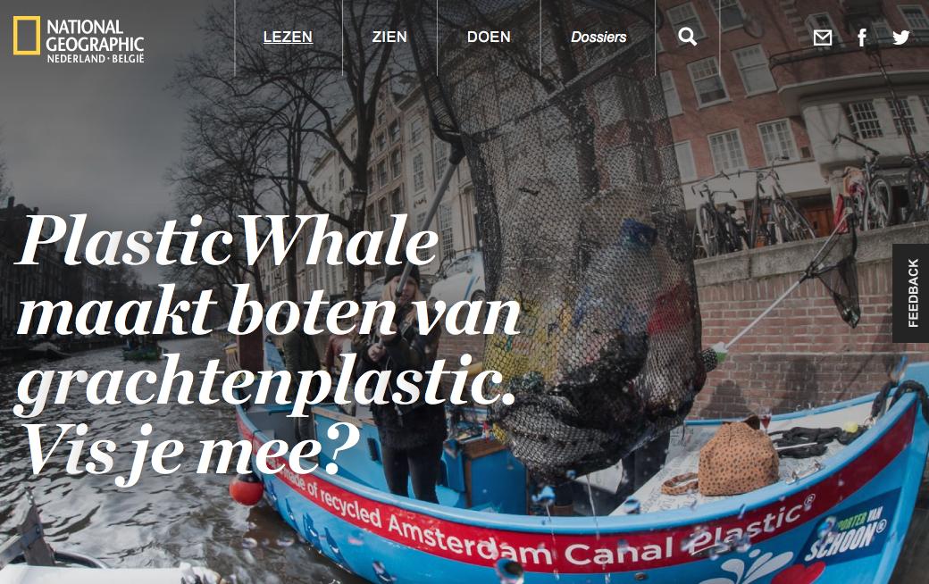 Plastic Whale plastic vissen na Koningsdag
